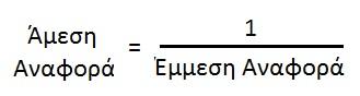 Σχεση άμεσης και έμμεσης αναφοράς στη συναλλαγματική ισοτιμία